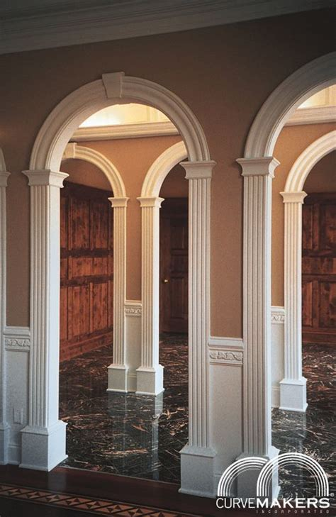 interior archway kits model j solid wood arch kit curvemakers inc