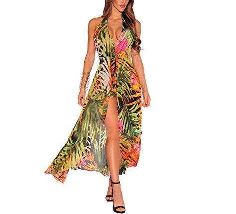 Maxi Abu Dhabi s halter backless floral chiffon maxi dress overlay romper jumpsuit playsuit