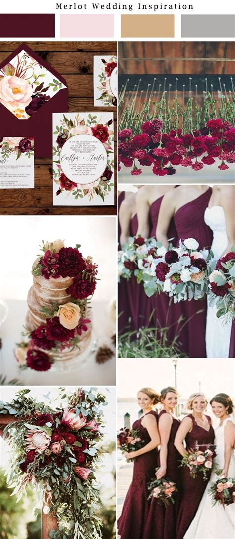 wedding themes gold and burgundy de 25 bedste id 233 er inden for burgundy flowers p 229