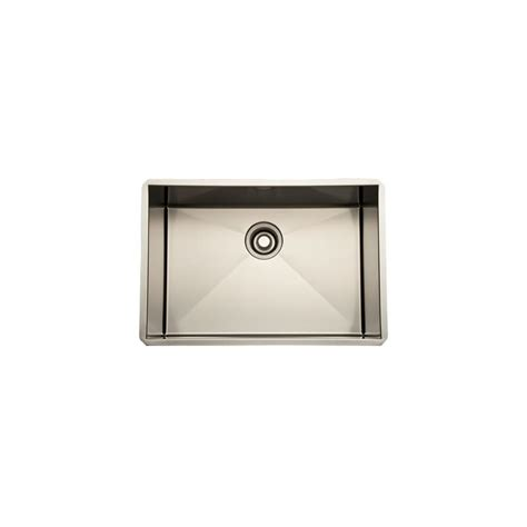 rohl rss2418 24 stainless steel kitchen sink with tangent