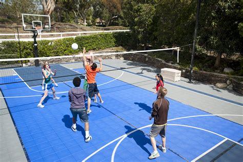 backyard sport courts sport court construction san antonio outdoor basketball court backyard tennis court