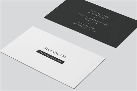 4 side free psd business card templates actions business card quot walker quot business card templates