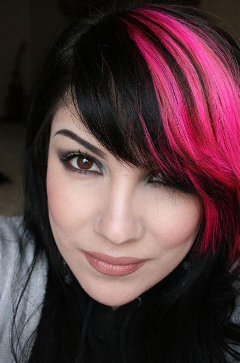 blackpink hairstyle black hair hot pink tips www pixshark com images