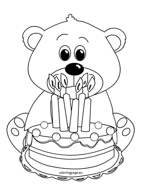 birthday bear coloring pages 92 birthday bear coloring page beautiful teddy bear