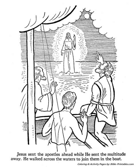 coloring pages jesus teaching free coloring pages of walks on water