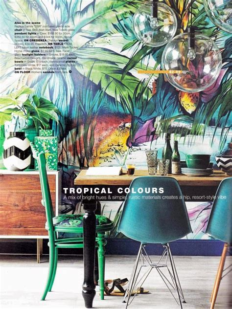 tropical colors for home interior airy interior with tropical ideas home design and interior