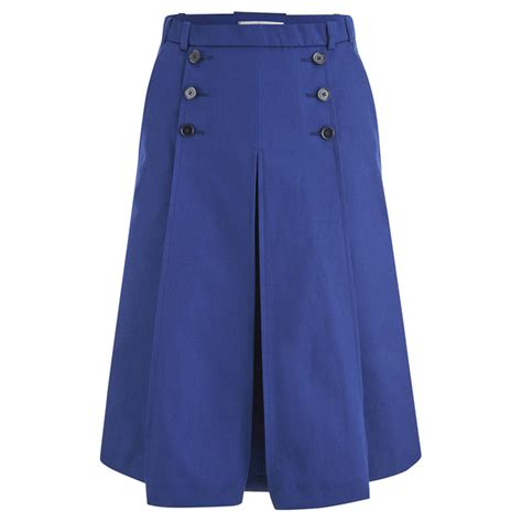 carven s midi pleat skirt navy free uk delivery