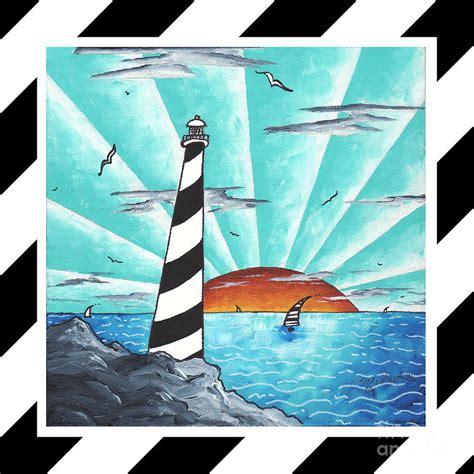 nautical painting coastal nautical decorative art original painting stripes