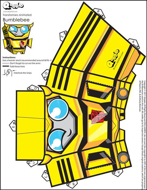 Bumblebee Papercraft - bumblebee qooplo papercraft