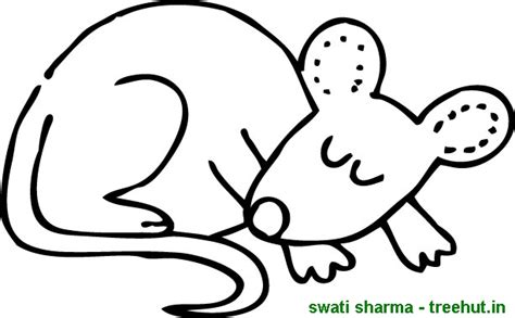 sleeping mouse coloring page free mouse coloring pages