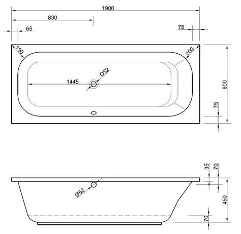 badewanne rechteckig rechteckige badewanne 190 x 80 x 45 cm badewanne badewanne