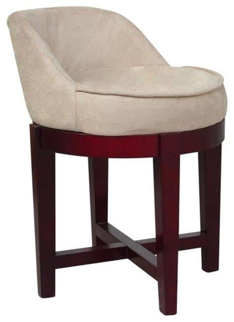 Bathroom Vanity Stools And Benches Swivel Vanity Chair Traditional Vanity Stools And Benches By Home Fashions