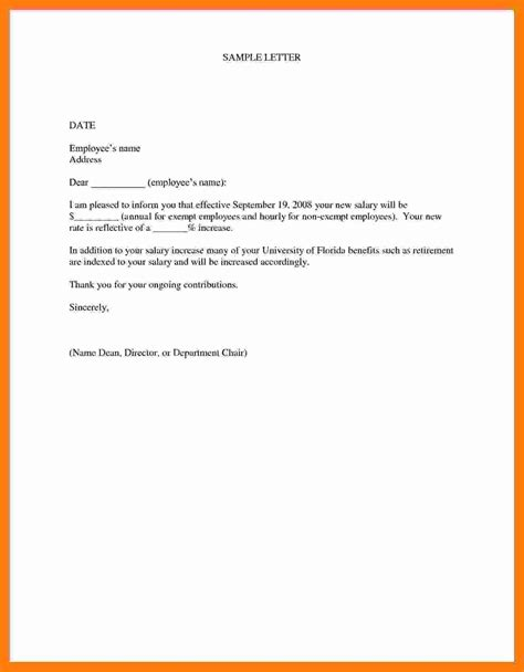 Employee Salary Review Letter
