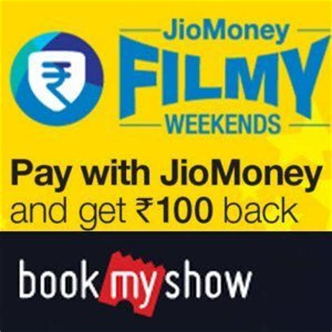 bookmyshow payment pay with jiomoney cashback offers bill payment 20 cashback