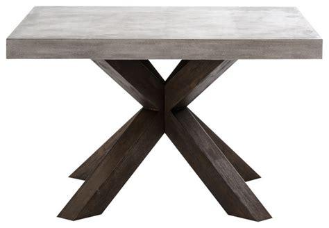 square concrete dining table modrest urban concrete square dining table scandinavian