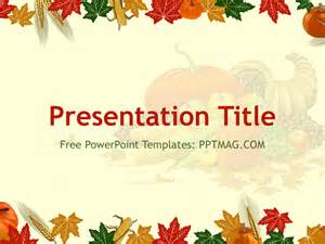 thanksgiving templates free free thanksgiving powerpoint template pptmag