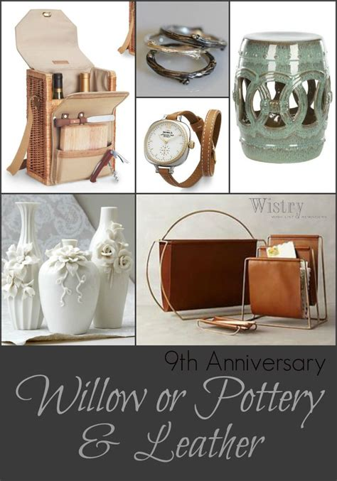 anniversary gift ideas traditional willow pottery