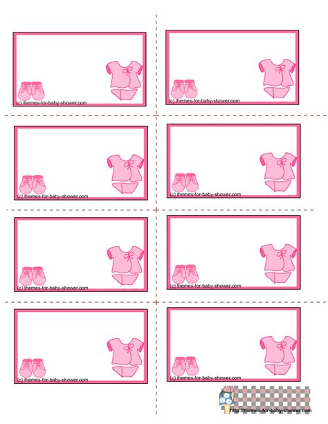 baby shower labels template free printable pink baby shower labels