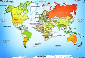 World Map Of Countries by Mrs World Map Country
