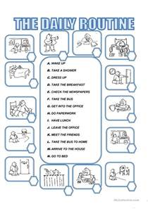 839 free esl daily routines worksheets