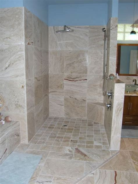 travertine tiles in bathroom leonardo travertine tiles beach style bathroom ta