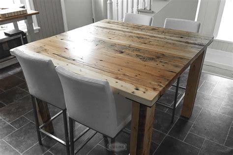 table de cuisine carree en bois idee de modele de cuisine