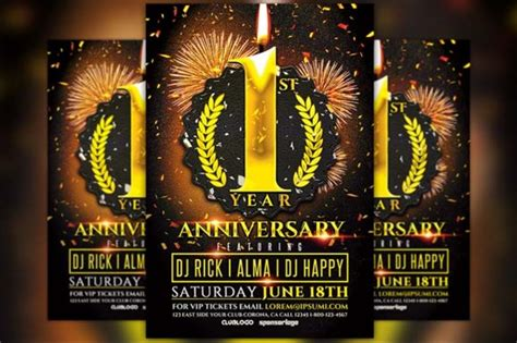 anniversary poster template 15 anniversary flyer template psd word ai and indesign