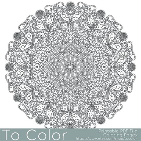 intricate mandala coloring pages free intricate printable coloring pages for adults gel pens
