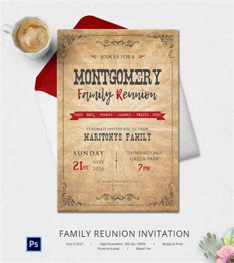 32 Family Reunion Invitation Templates Free Psd Vector Eps Png Format Download Free Family Reunion Announcement Template