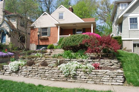 terraced front yard landscaping does house landscaping increase home value retaining