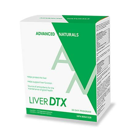 Advancred Detox Solutions by Advanced Naturals Liver Dtx 30 Day Program A Healthy