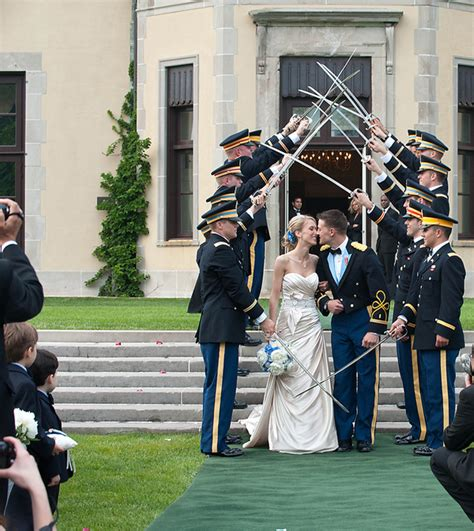 army wedding traditions striking blue and white new york wedding