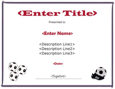free printable soccer certificate templates soccer certificate template
