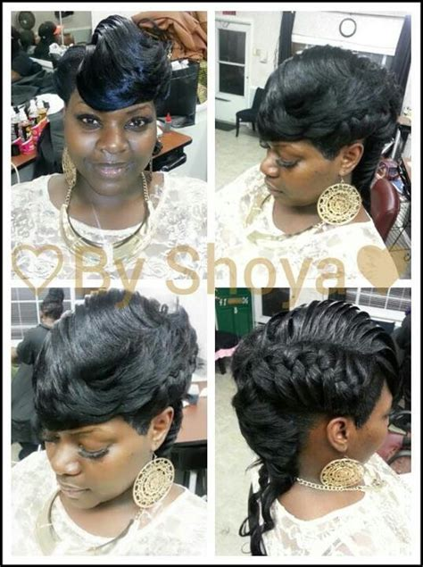 shoya creations hairstyles french mohawk quick weaves by shoya pinterest