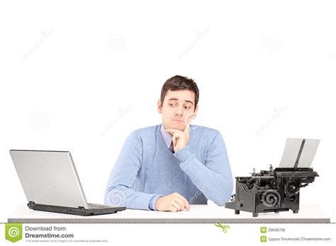 Sitting At Desk by Confused Sitting On A Desk With A Laptop And A Typing