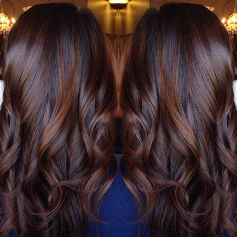 long brown hairstyles with parshall highlight 1000 ideas about chocolate brown hair on pinterest