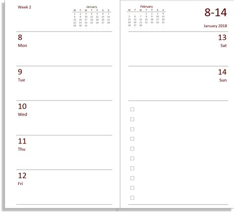 Calendar Diary 2018 My All In One Place Free Midori Tn Calendar Diary