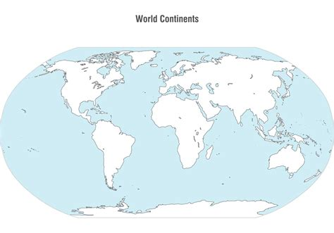 image of world map with continents world continents map vector free vector