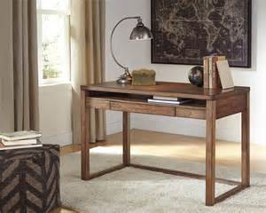 Small Desks For Home Office Baybrin Rustic Brown Home Office Small Desk H587 10 Home Office Desks Furniture World