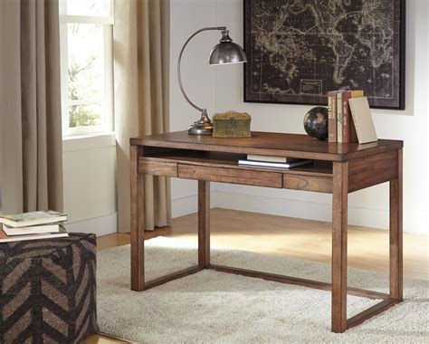Baybrin Rustic Brown Home Office Small Desk H587 10 Small Office Desks For Home
