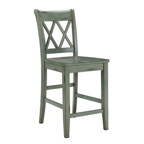 Blue Bar Stools Kitchen Furniture Mestler 24 Quot Counter Stool In Antique Blue And Green D540 124