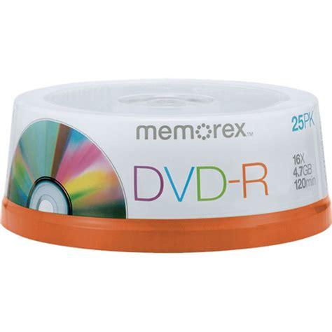 Memorex 4 7gb 16x Dvd R memorex 4 7gb dvd r 16x discs spindle 25 pack 05638 b h