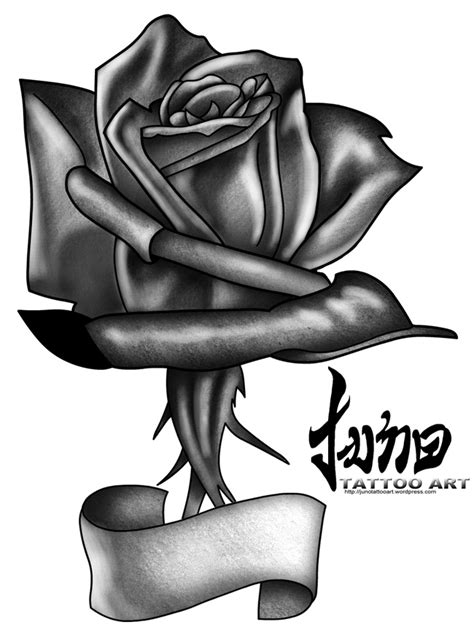 rose tattoos for men black and white black and white