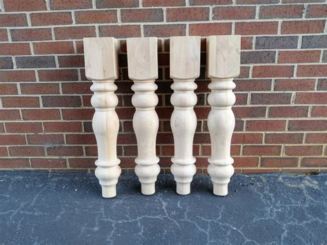 large farmhouse table legs unfinished farmhouse dining table legs wood legs turned