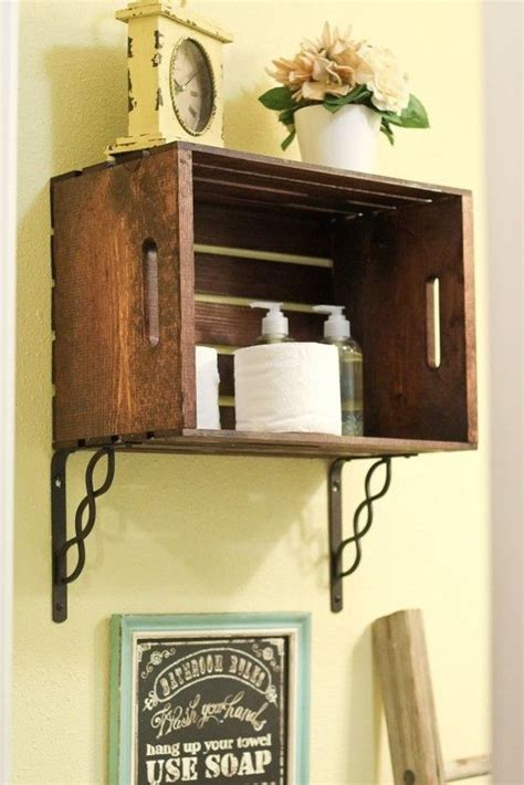 crate shelves bathroom crates wall brackets and shelves on pinterest