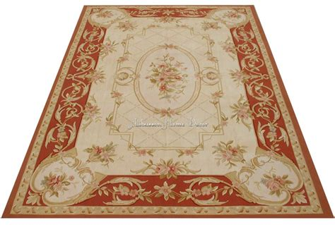 6 x9 shabby chic home decor aubusson area rugs antique french pastel floor carpet soft red