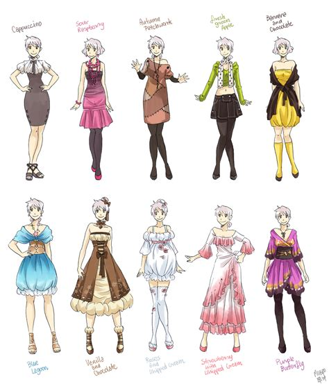 design net clothes various female clothes by meago on deviantart