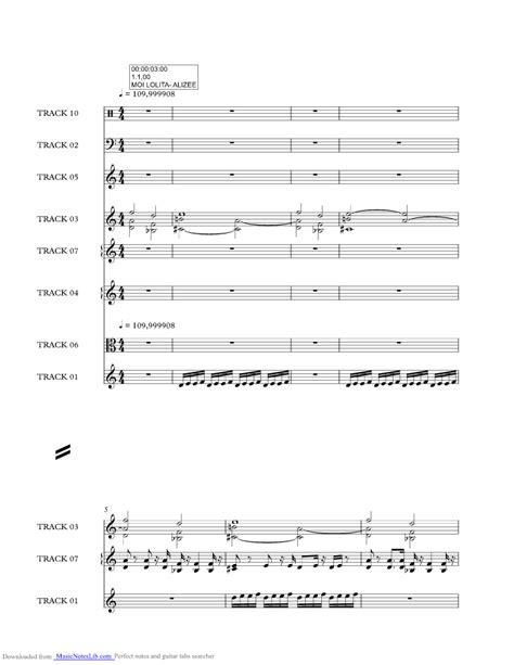 A Of Note Who Moi by Moi Sheet And Notes By Alizee Musicnoteslib