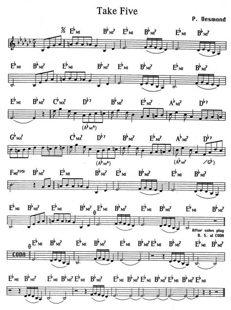 tutorial piano take five 29 best flute score nota images on pinterest flute