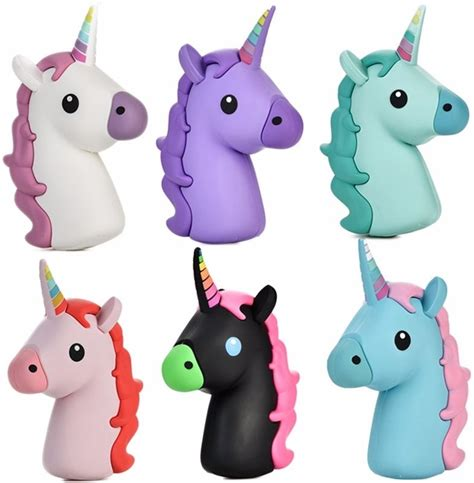 Powerbank Unicorn 2600 mah unicorn power bank for iphone samsung xiaomi lovely emoji unicorn portable